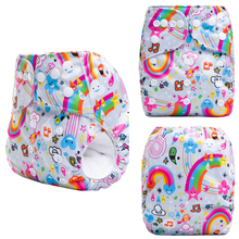 JinoBaby Diapers Reusable Couche Lavable One Size Fits All for NB to 13kgs babies (with 1PCS Bamboo Insert)