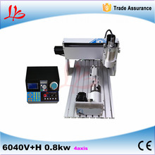 3d cnc machine milling machine 6040 6040V+H 0.8KW 4 axis  for jewellery wood aluminium