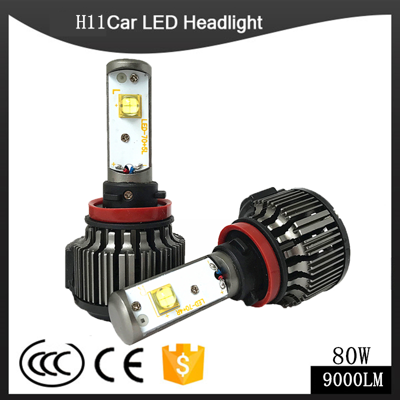 H4 LED H1 H3 H7 H11 880 H13 9005 9006 9004 9007 Hi/Lo 80W 9000LM TURBO 6000K Car Headlight Fog Light Conversion Kit Automobiles<br>