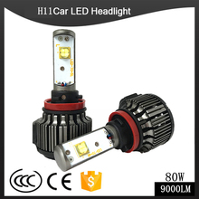 H4 LED H1 H3 H7 H11 880 H13 9005 9006 9004 9007 Hi/Lo 80W 9000LM TURBO 6000K Car Headlight Fog Light Conversion Kit Automobiles(China)