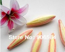 Free shiping wholesale  60mm yellow and green&yellow and pink foam lily bud for nylon stocking flower accessories(20pcs/lot)