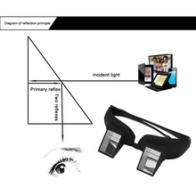 1pc Amazing Lazy Creative Periscope Horizontal Reading TV Sit View Glasses On Bed Lie Down Bed Prism Spectacles The Lazy Glasses(China)