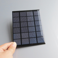 6V 2W 330mA Mini monocrystalline polycrystalline solar module Panel charge for LED Solar garden lamp Wall light(China)
