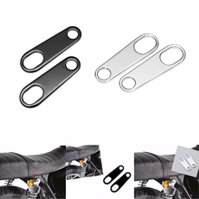 HOT SALE 1 Pair Motorcycle Rear TURN SIGNAL Relocater Holder Shock Brackets Motorbike Bobber Old School Cafe Racer Black Silver