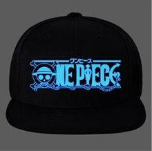 13 kinds Cool One Piece Noctilucent anime Snapback cartoon pirate Cap Baseball Hip Gop Gorra Visor Cappelli skateboard Skull(China)
