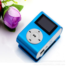 NEW Hot Selling LCD Screen Mini Clip Mp3 Player Electronic Sports Metal Mini MP3 Music Player Support FM Micro SD TF Card