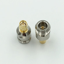 2Pcs Brass N Female to SMA Male Plug RF Coaxial Cable Adapter Jack SMA to N F/M Connector High Quality
