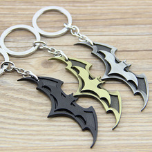 1PCS New Arrival DC Comics Super Hero Superhero Batman Bat Metal Keychain Pendant Key Chain Chaveiro Key Ring KT195(China)
