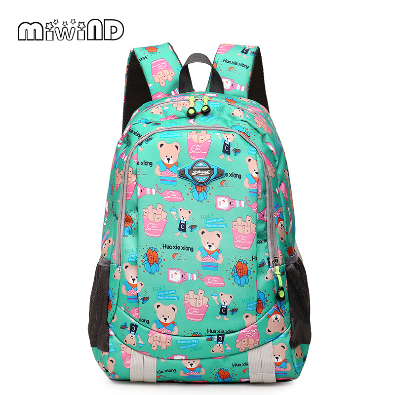 New Casual Womens cartoon bear Canvas Backpack Women Girl Lady Student School Bags Travel Shoulder Bag Mochila<br><br>Aliexpress