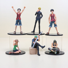 7-17cm 6 styles Anime One Piece Usopp Luffy Zoro Luffy  Sanji Nami PVC Action Figures Model Toys for Collection