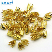 10mm 50pcs/lot Zinc Alloy Metal Bead Caps Silver Gold Plated Flower End Beads Caps Charms (Lead and Nickel Free)