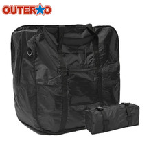 Buy OUTERDO Bicycle Bike Folding Carrier Bag Carry Cover Front Rear Storage Bags Dahon 14inch/16inch/20inch Mountain Holder for $23.99 in AliExpress store