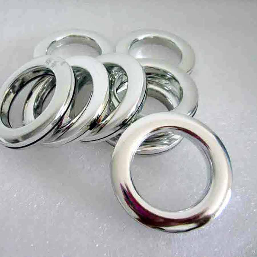 80 Piece Eyelet ring Curtain Accessory Roman Plastic Ring Roman White Grommet top For Curtain Silver Hole-digging Circle cp053&3