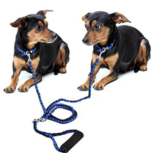 Hand-Made Double Pet Lead For Two Dogs125CM Braided Tangle Free Double Dog Leash Coupler For Training Two Dogs