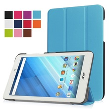 "Protective leather cover stand case magnet cover case for 2016 Acer Iconia One 8 B1-850 8"" tablet+free gift(China)"