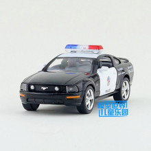 Free Shipping/1:38 Scale/2006 Ford Mustang GT (Police)/Classical Educational Model/Pull back Diecast Metal toy car/Collection