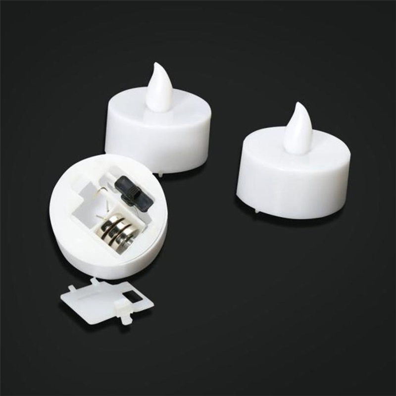 6pc LED Tea Light Candles Realistic Battery-Powered Flameless Candles05