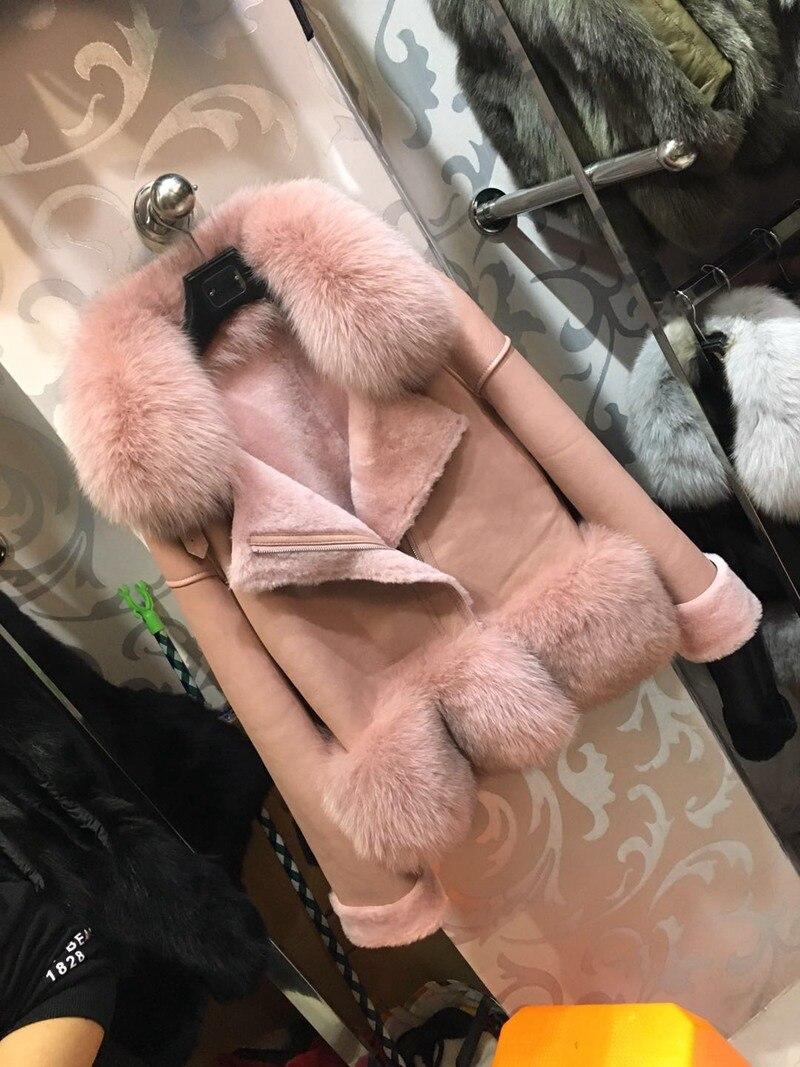 genuine sheep leatherskin jacket fox fur cooar coats (22)