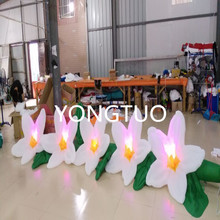 LED lighting giant fabric inflatable flower for wedding decoration or party(5m)(China)