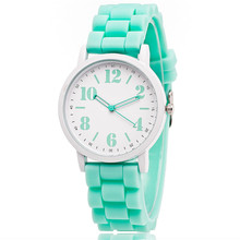 Candy Color Silicone Watches Women Students Girls Quartz Sport Wristwatches Clock Hour Fashion Children kids watch(China)