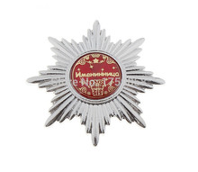 [Birthday girl] Silver medal with certificate.Archaize anise star badges.charm gifts.metal crafts for daughter, sister's gift(China)