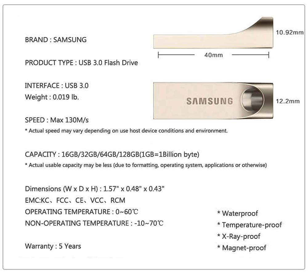 SAMSUNG 3.0 Pendrive 150MB/s 32GB 64GB 128GB Metal Mini Pen Drive USB Flash Drive Memory Stick Storage Device U Disk Free Ship