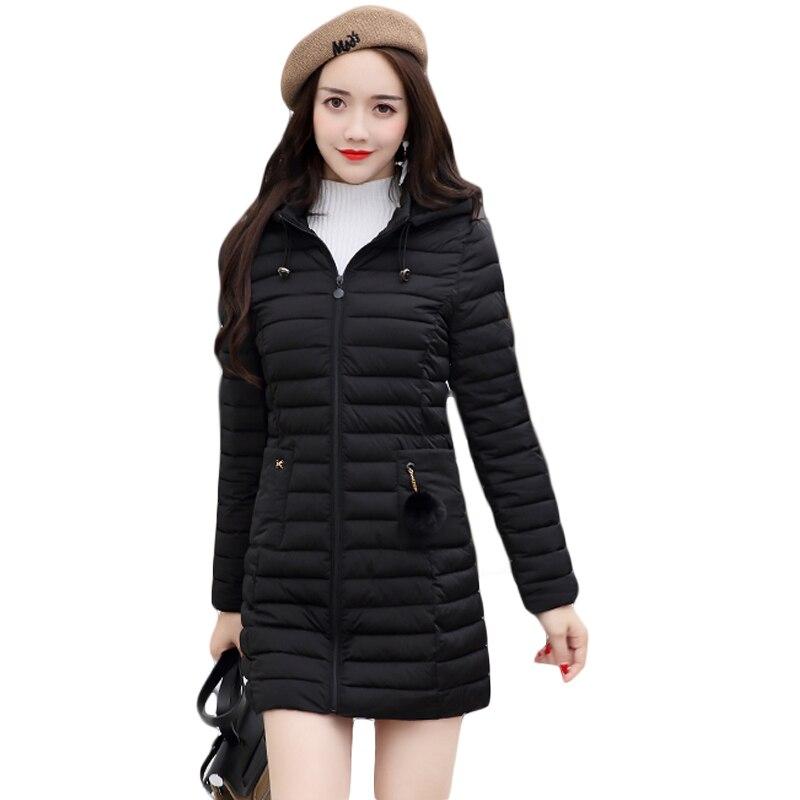 5XL Plus Size Ladies Fashion Winter Coats 2017 Casual Parkas Mujer Outwear Female Hooded Cotton-padded Medium Jackets CM1702Îäåæäà è àêñåññóàðû<br><br>