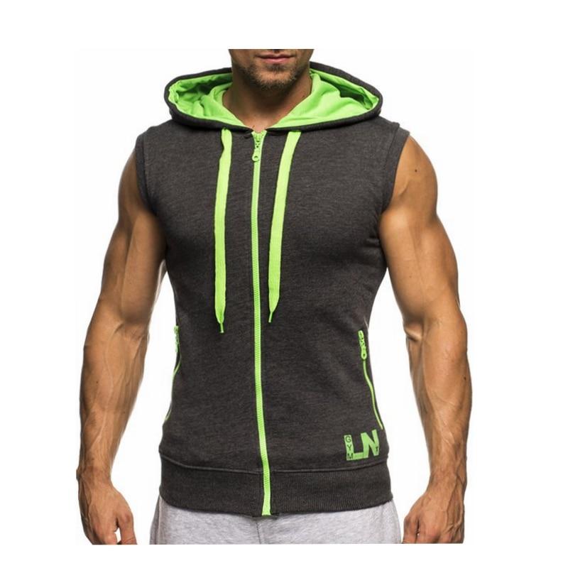 Male Bodybuilding Hoodies Fitness Clothes Hoody Cotton Hoodie Men Sweatshirts Men's Sleeveless Tank Tops Casual Vest 19