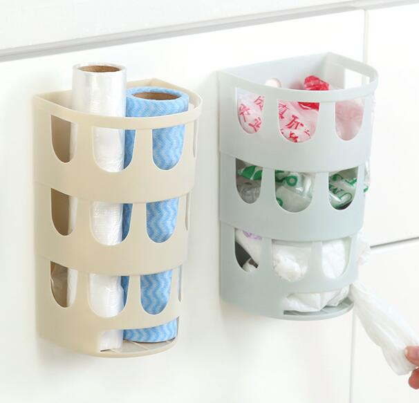 carrier bag storage. 2pcs home wall mount plastic carrier bag storage box container garbage bags holder hanging basket v