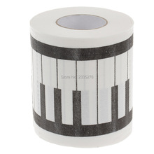 Free Shipping 3Pieces Gift for Music Lovers Piano Keyboard Toilet Roll Paper Printed Napkin Paper Toilrt Tissue Paper