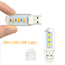 SMD 5730 3LEDs Mini USB LED Night light 5V 0.7w lighting bedroom lamp 2 color USB LED light lamp for power bank notebook PC(China)