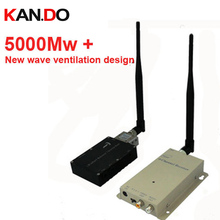 made in Taiwan 5000Mw+ cctv transmitter 1.2G Wireless transceiver,1.2G Video Audio Transmitter Receiver drone FPV transmitter