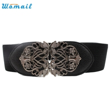Womail Good Deal  New Fashion Accessories Alloy Flower Vintage Leather Belt Belt Straps For Women Waistbelt Gift 1PC