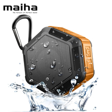 Maiha M5 Portable Subwoofer Shower Waterproof Wireless Bluetooth Speaker with NFC Super Bass Car Handsfree Call(Orange)