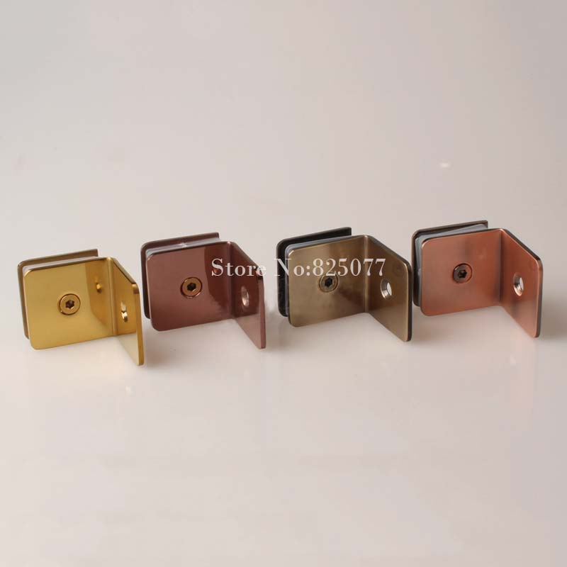 Bathroom clip glass fitted clip 304 stainless steel glass clamp partition code 90 degree wall to glass fixed HM163<br>