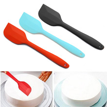 Colorful High Temperature Resistance Silicone Spatula Baking Rubber Scraper Pastry Cake Scraper Bakery Accessories