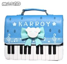Super cute Lolita sweet butterfly knot Letter printing Piano double shoulder bag,fashionable new ladies quality cute backpack