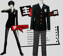 Halloween Christmas Persona 5 Costume Protagonist Cosplay P5 New Man Suit School Uniform Party Blazer Coat Pants(China)