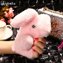 Buy AKABEILA Silicon Case BQ X Pro Cases Rabbit Hair Bling Diamond BQ Aquaris X Pro Soft TPU Cute Anti-knock Cover for $7.47 in AliExpress store