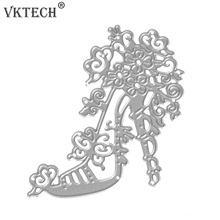 1pc High Heel Shoes Metal Cutting Dies Stencil Craft Embossing Die Cut Dies DIY Scrapbooking Paper Cards Album Decor Metal Dies(China)