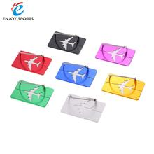 7pcs Outdoor tool Travel Airlines Luggage Tags Suitcase Bag Tag Address Name Identity ID Label Identifier Metal Aluminum Alloy