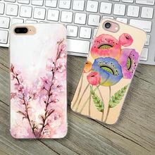 5C Cover For Apple iPhone 5C Case Cases Phone Shell Ultrathin Soft TPU Painted Happy Birds Family Aroma Charming 2017 Best Gift