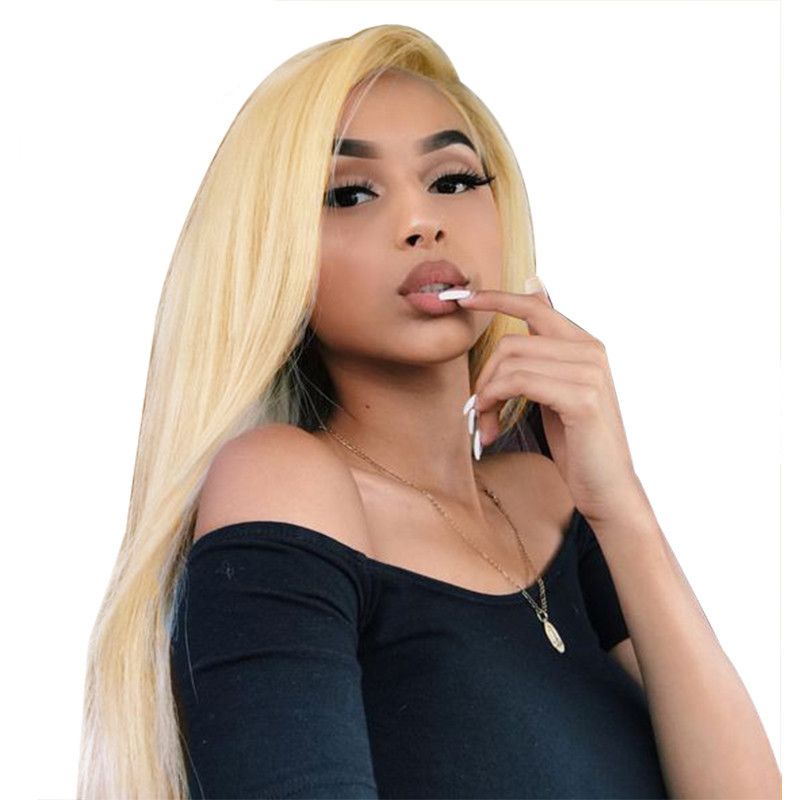 blonde lace front human hair wig 2