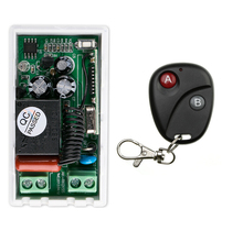 AC 220V 1 CH RF Wireless Remote Control Switch 1 receiver+1 transmitter Simple connection home appliances/lamp(China)
