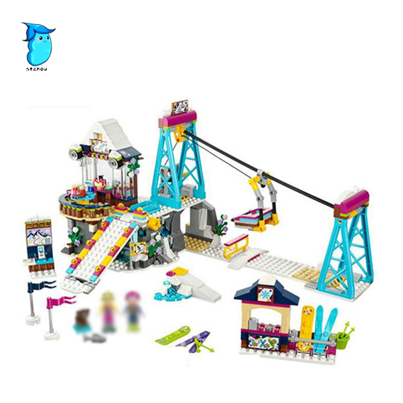 StZhou LEPIN 01042 632pcs Snow Resort Ski Lift Gift Club Ski Vacation Skiing Figure Building Blocks Bricks Toys Gift for Girl <br>