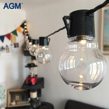 AGM 20 LED G45 Globe Led String Lights Garland Ball Lamps Connectable Festoon Christmas Light For New Year Holiday Decoration(China)