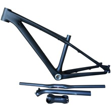 "Smileteam 26er 14""/16"" Full Carbon MTB Bike Frame 26er Mountain Bike Carbon Frameset With Handlebar Stem Seatpost Complete Sets(China)"