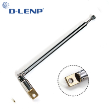 Dlenp Best Promotion Durable AM FM Radio Telescopic Antenna Replacement 35.5cm Length 4 Sections Aerial for Radio equipment(China)