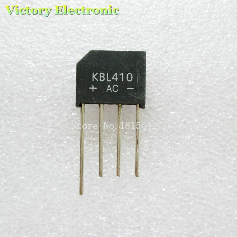New 5PCS/Lot KBL410 KBL-410 4A 1000V Single Phases Diode Rectifier Bridge Wholesale Electronic(China)