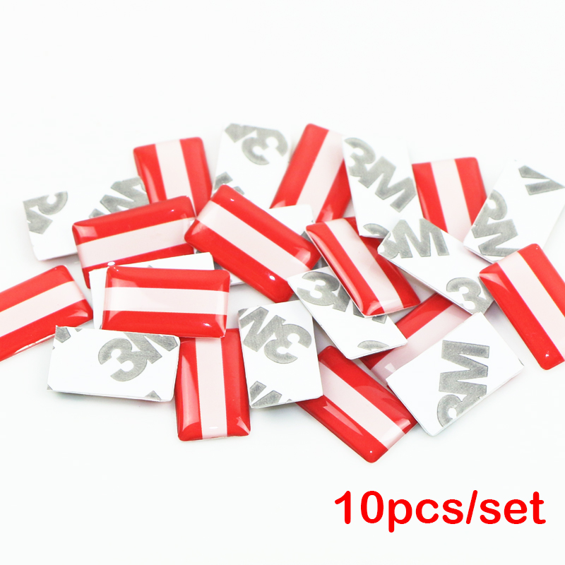10pcs/lot, New Car styling Austria small Decorative Badge Hub caps Steering wheel for opel renault bmw seat Car Emblem Sticker(China)